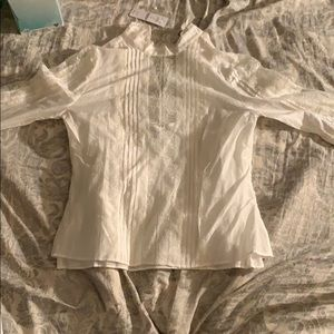 White House Black Market Celine Victorian blouse 0
